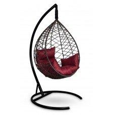 Подвесное кресло-кокон ALICANTE коричневое + каркас