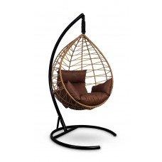 Подвесное кресло-кокон ALICANTE рыжий + каркас
