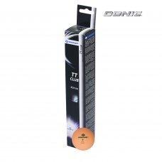 Мячики для н/тенниса DONIC 2T-CLUB, 6 штук, оранжевый