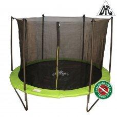 Батут DFC JUMP 14ft складной, сетка, чехол, apple green (427см)
