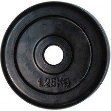 Диск обрезиненный черный d-50mm 1,25 кг RJ1034 55349