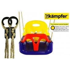 Детские пластиковые качели 3в1 Kampfer (синий/желтый/красный) 53659