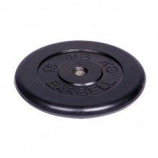 Диск Barbell 15 кг. d-31 мм. обрезиненный чёрный
