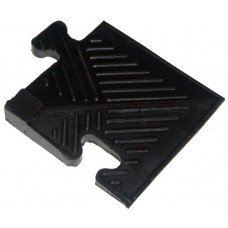 Уголок резиновый для бордюра Barbell 20 мм чёрный