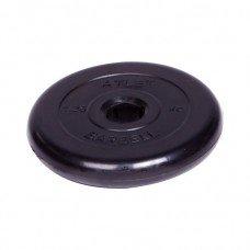 Диск обрезиненный Barbell Atlet d 51 мм чёрный 1,25 кг