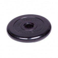 Диск обрезиненный Barbell Atlet d 51 мм чёрный 5 кг