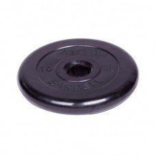 Диск обрезиненный Barbell Atlet d 51 мм чёрный 10 кг