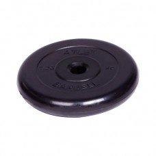 Диск обрезиненный Barbell Atlet d 31 мм чёрный 1,25 кг