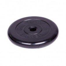 Диск обрезиненный Barbell Atlet d 31 мм чёрный 10 кг