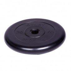 Диск обрезиненный Barbell Atlet d 31 мм чёрный 25 кг
