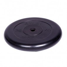 Диск обрезиненный Barbell Atlet d 26 мм чёрный 25 кг