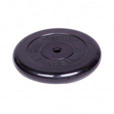 Диск обрезиненный Barbell Atlet d 26 мм чёрный 10 кг