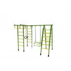 Спортивный комплекс Лидер Д1-02 (мет. качели) зелёно/жёлтый