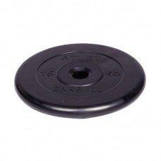 Диск обрезиненный Barbell Atlet d 31 мм чёрный 15 кг