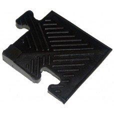 Уголок резиновый Barbell для бордюра 12 мм чёрный