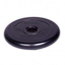 Диск обрезиненный Barbell Atlet d 51 мм чёрный 25 кг
