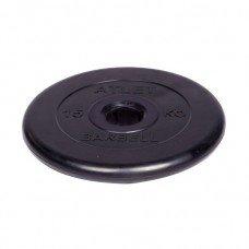 Диск обрезиненный Barbell Atlet d 51 мм чёрный 15 кг
