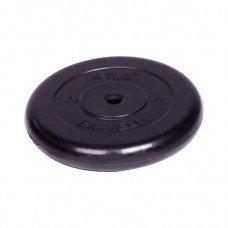 Диск обрезиненный Barbell Atlet d 26 мм чёрный 1,25 кг