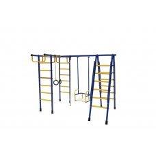 Спортивный комплекс Лидер Д1-01 (мет. качели) сине/жёлтый