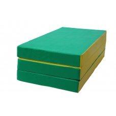 Мат № 4 КМС (100 х 150 х 10) складной зелёно/жёлтый