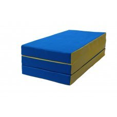 Мат № 4 КМС (100 х 150 х 10) складной сине/жёлтый