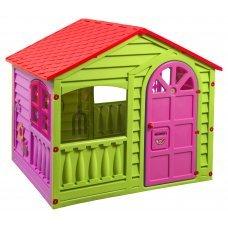 Домик PalPlay 360 игровой красный/зелёный/розовый
