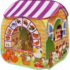 """Игровой домик """"Детский магазин"""" + 100 шариков CBH-32 жёлтый"""