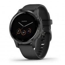 Garmin Vivoactive 4s черные с серым vivoactive 4S, GPS, Wi-Fi, Black/Slate, E.EU (010-02172-13)