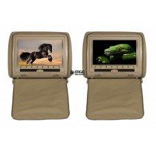 Комплект подголовников со встроенным DVD плеером и LCD монитором 9