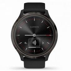 Garmin Vivomove 3 черные с черным силиконовым ремешком vivomove 3, S/E EU, Slate, Black, Silicone (010-02239-21)