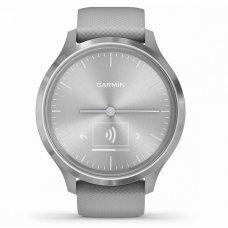 Garmin Vivomove 3 серебристые с серым силиконовым ремешком vivomove 3, S/E EU, Silver, Powder Gray, Silicone (010-02239-20)