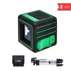 Построитель лазерных плоскостей (лазерный уровень) ADA Cube 3D Green Professional Edition