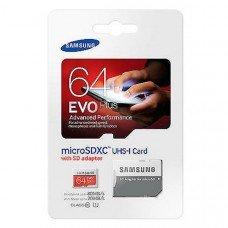 Карта памяти Samsung microSDHC EVO Plus 64Gb U3 60-100MBs