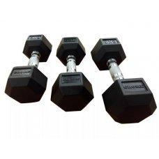 Гантели гексагональные от 1-10 кг GROME fitness DB 139