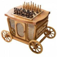 Стол шахматный с баром в виде кареты РФН Slkareta
