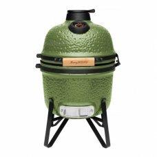 Компактный керамический уличный гриль BergHOFF 41х36х57 см (зеленый)