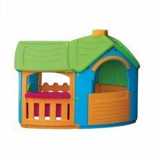 Детский пластиковый домик Marian Plast Вилла с пристройкой