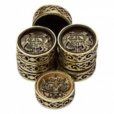 Набор фишек с бронзой Haleyan kh209 для нард «2 Герба»