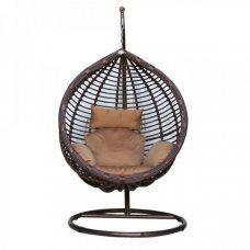 Подвесное кресло Kvimol КМ-0021 большая коричневая корзина