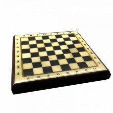Шахматная коробка с доской Амберрегион yantar21 27х27 см дуб
