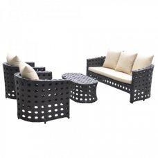 Комплект дачной мебели Kvimol KM-0008 черный