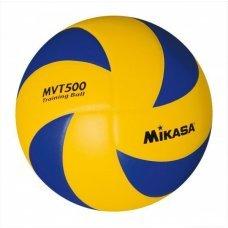 Мяч утяжеленный волейбольный Mikasa MVT500 размер 5, желтый/синий