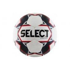 Мяч футбольный 4 размер Select Contra 812310-103-4 белый/красный