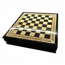 Шахматная коробка с раздвижными ящиками Амберрегион yantar20 дуб