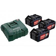 Аккумуляторы Metabo 3 шт 5,2 А*ч 18 В Li-Ion и ЗУ ASC 30-36 Basic-Set 685048000