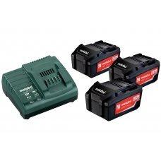 Аккумуляторы Metabo 3 шт 4 А*ч 18 В Li-Ion и ЗУ ASC 30-36 Basic-Set 685049000