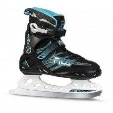 Коньки прогулочные FILA Primo Ice Lady BLK/light blue(37,5)