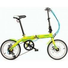 Маленький складной велосипед LANGTU MT 1606F, в сложенном виде очень компактный - размер 70х 59х34 см. Легкая складная рама из стали, вес велосипеда 12.8 кг. Трансмиссия Shimano на 7 скоростей покажет себя с лучшей стороны: безотказность и плавность перек