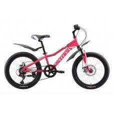 Велосипед STARK Bliss 20.1 D (2020) яркая и стильная модель для маленьких девочек 5 - 9 лет и ростом до 135 см. Лёгкая алюминиевая рама имеет малый вес и высокую прочность, а мягкая передняя вилка добавит комфорта при езде по неровным дорогам. Шатуны Xian