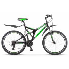 Велосипед STELS Challenger 26 V Z010 (2020) 20 / чёрно-зелёный 20 ростовка
